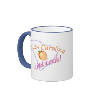 SC is just peachy! Ringer Coffee Mug