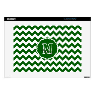 SC Monogram Chevron Green-White Laptop Skin 15in