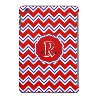 SC Monogram Chevron Red White Blue iPad Mini Case