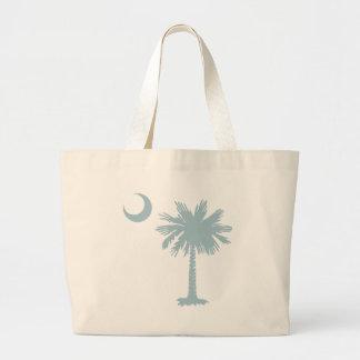 SC Palmetto & Crescent (CB) Large Tote Bag