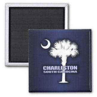 SC Palmetto & Crescent (Charleston) 2 Inch Square Magnet