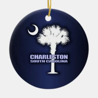 SC Palmetto & Crescent (Charleston) Ceramic Ornament