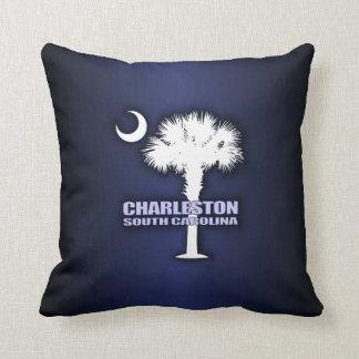 SC Palmetto & Crescent (Charleston) Throw Pillow