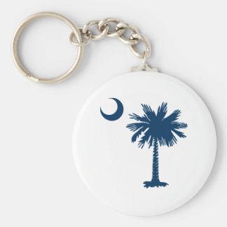 SC Palmetto & Crescent Keychain