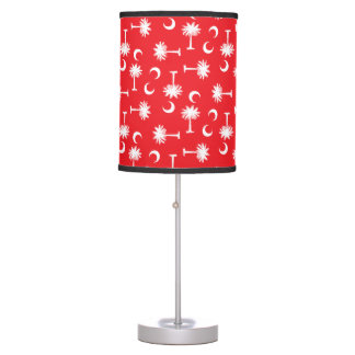 SC Palmetto Moon Red Table Lamp