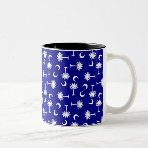 SC Palmetto Moon Y SC Blue.png Two-Tone Coffee Mug