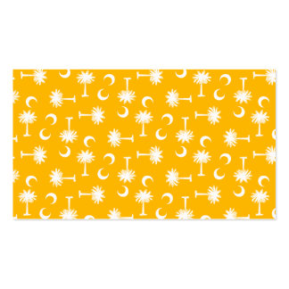 SC Palmetto Moon Yellow Double-Sided Standard Business Cards (Pack Of 100)