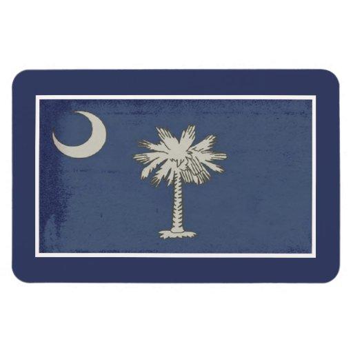 SC Palmetto State Flag Magnet