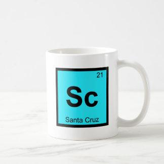 Sc - Santa Cruz City California Chemistry Symbol Coffee Mugs