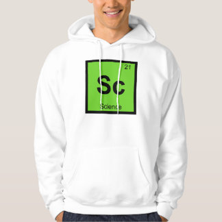 Sc - Science Chemistry Periodic Table Symbol Hoodie