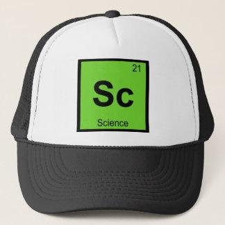 Sc - Science Chemistry Periodic Table Symbol Trucker Hat