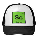 Sc - Símbolo de la tabla periódica de la química d Gorras De Camionero