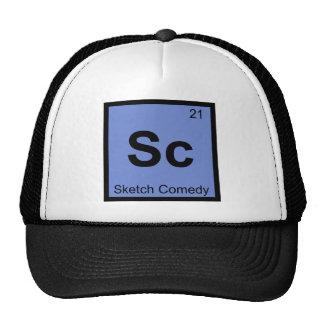Sc - Sketch Comedy Chemistry Periodic Table Symbol Trucker Hat