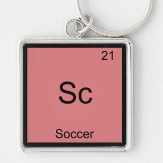 Sc - Soccer Funny Chemistry Element Symbol T-Shirt Key Chain