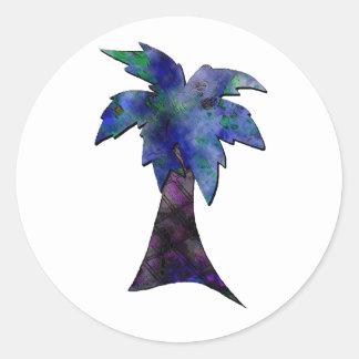 SC state palmetto tree 2 Classic Round Sticker