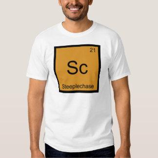 Sc - Steeplechase Funny Chemistry Element Symbol T Shirt