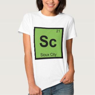 Sc - Tabla periódica de la química de Sioux City Playeras