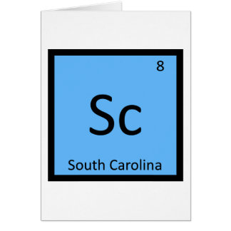 Sc - Tabla periódica de la química del estado de C Tarjeta
