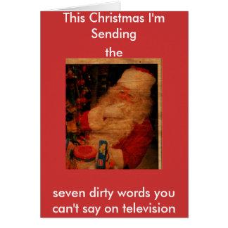 SC, This Christmas I'm Sending, the, seven dirt... Card