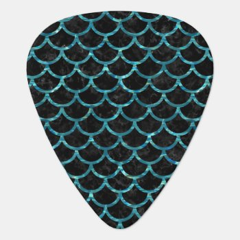 Sca1 Bk-mrbl Watr1 Guitar Pick by Trendi_Stuff at Zazzle