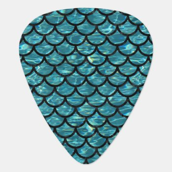 Sca1 Bk-mrbl Watr1 (r) Guitar Pick by Trendi_Stuff at Zazzle
