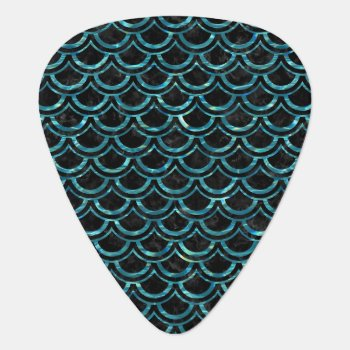 Sca2 Bk-mrbl Watr1 Guitar Pick by Trendi_Stuff at Zazzle