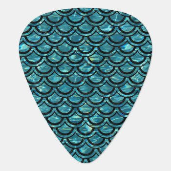Sca2 Bk-mrbl Watr1 (r) Guitar Pick by Trendi_Stuff at Zazzle