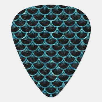 Sca3 Bk-mrbl Watr1 Guitar Pick by Trendi_Stuff at Zazzle