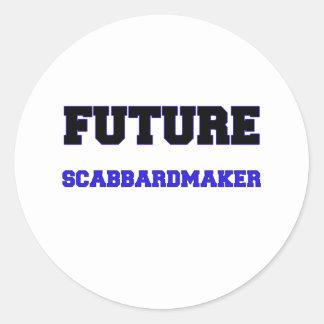 Scabbardmaker futuro pegatina redonda