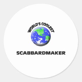 Scabbardmaker más fresco del mundo etiquetas redondas
