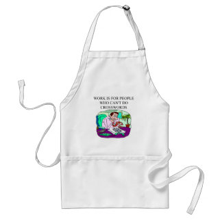 scabble and word game player design adult apron