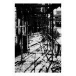 Scaffolding shadows posters