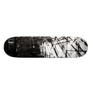 Scaffolding shadows skateboard deck