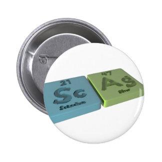 Scag como escandio del Sc y plata del AG Pins