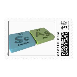 Scag como escandio del Sc y plata del AG Sello