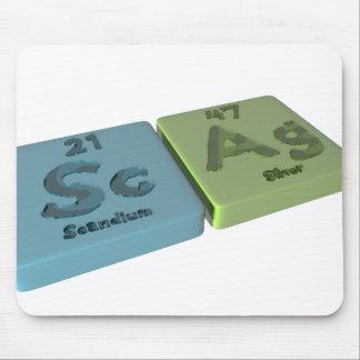 Scag como escandio del Sc y plata del AG Tapetes De Raton