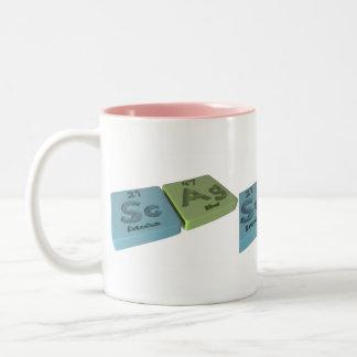 Scag como escandio del Sc y plata del AG Taza De Café
