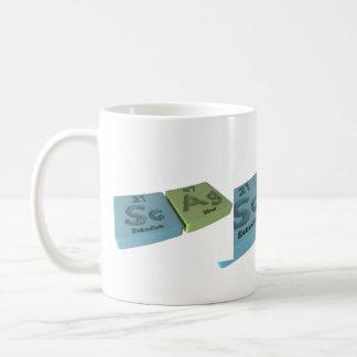 Scag como escandio del Sc y plata del AG Tazas De Café