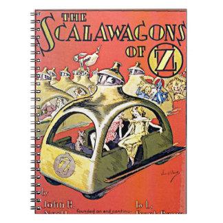 Scalawagons Of Oz Spiral Notebook