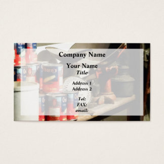 Scale and Canned Goods Business Card