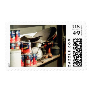 Scale and Canned Goods Postage Stamps