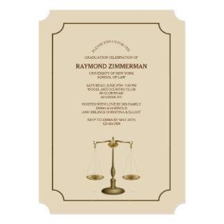 Scale Law School Graduation YOU PICK COLOR Card