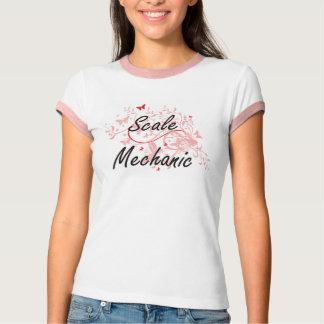 Scale Mechanic Artistic Job Design with Butterflie T-Shirt