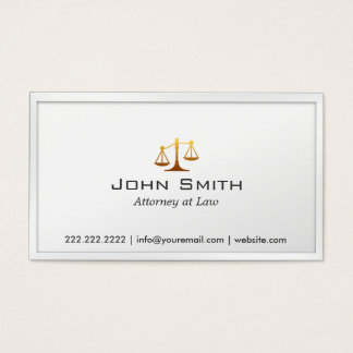 Scale of Justice Attorney/Lawyer Business Card