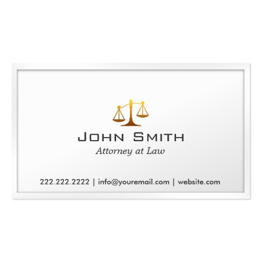 Scale of Justice Attorney Lawyer Business Card