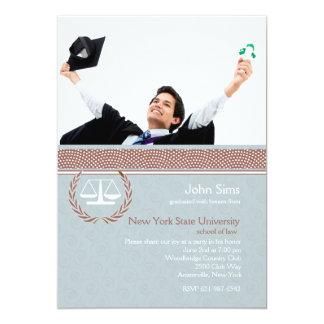 Scale of Justice Blue Swirl, Law School Invitation