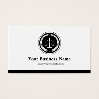 Scale of Justice Lawyer Attorney - Simple Elegant Business Card