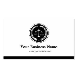 Scale of Justice Lawyer Attorney - Simple Elegant Double-Sided Standard Business Cards (Pack Of 100)