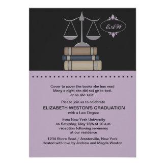 Scale of Justice Mauve, Law School Invitation