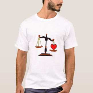 Scale of Justice - with heart T-Shirt